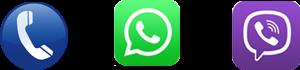 call-viber-whatsapp-logos